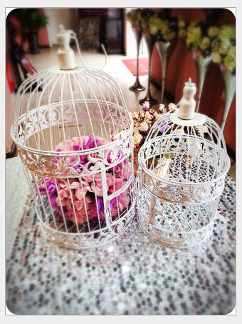 Buy mostcharming iron birdcage wedding for Cage a oiseau decorative
