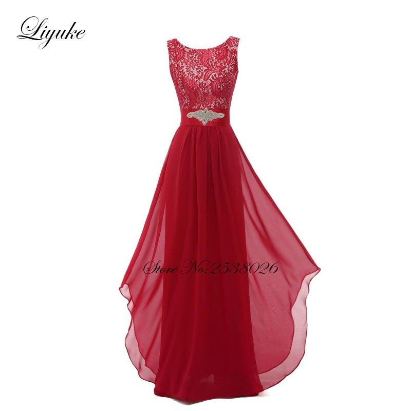Liyuke krajka s šifónem družiček šaty formální šaty - Šaty pro svatební hostiny - Fotografie 6
