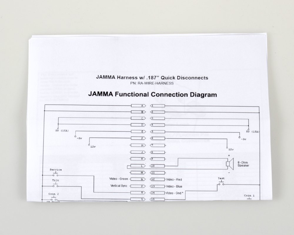 Jamma Wiring Harness Diagram Free Download Icade Arcade 56 Pin Interface Cabinet Wire Loom At