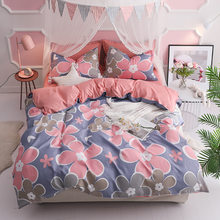 2019 New Bedding Set 3/4pcs Bed Linens Soft Cotton Duvet Cover Bedlinens Single Twin Queen King Size Quilt Pillow Case Bedspread(China)