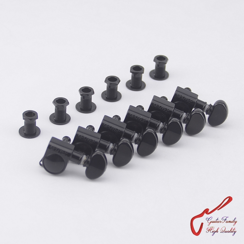 1 Set  6 In-line Genuine Grover Guitar Machine Heads Tuners 1:18  Black  ( without original packaging ) amit grover compression techniques in slow internet environment