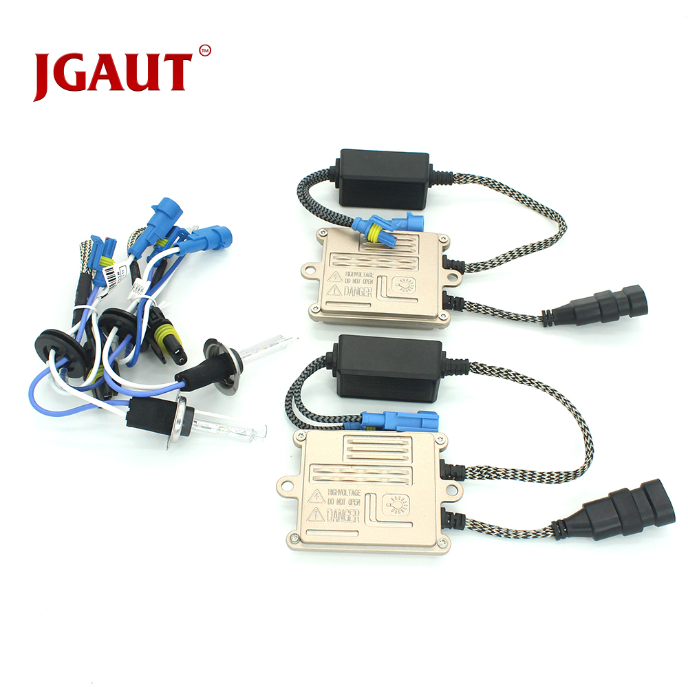 цена на JGAUT 55W AC H7 Quick Start Fast Bright Car Light Headlight Headlamp 4300K 5500K 6000K 8000K HID Kit AC Ballast Bulb