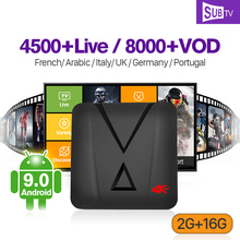 IPTV France Arabic Italia Canada SUBTV MX10 MINI Android 9.0 2G+16G USB3.0 RK3328 1 Year Portugal UK  Box