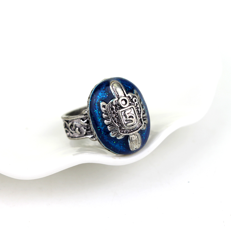 The Vampire Diaries Ring Salvatore Damon Stefans Punk Rings Vintage Blue Zinc Alloy Ring Fashion Jewelry Accessories For Fans