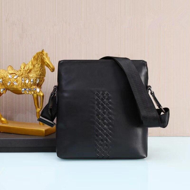 Kaisiludi leather woven men s bag single shoulder bag head layer tire cowhide vertical men s