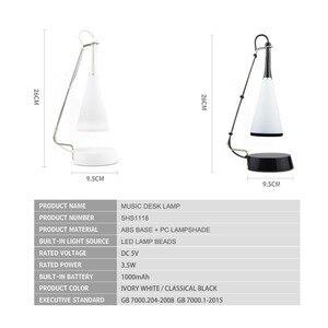 Image 3 - Lámpara LED de mesa con Sensor táctil, Altavoz Bluetooth, lámpara de escritorio recargable por USB, luces led de lectura para estudio, iluminación para dormitorio y hogar