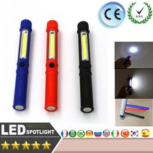 Portable Mini Pen Light Working Inspection light COB LED Multifunction Maintenance flashlight Hand Torch lamp With Magnet AAA(China)