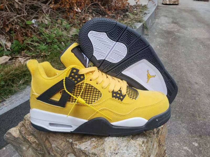 2019 New Original Jordan 4 retro Men shoes basketball shoes sneakers yellow Bumblebee shoes AJ4 Sports Training shoes 308497-1202019 New Original Jordan 4 retro Men shoes basketball shoes sneakers yellow Bumblebee shoes AJ4 Sports Training shoes 308497-120