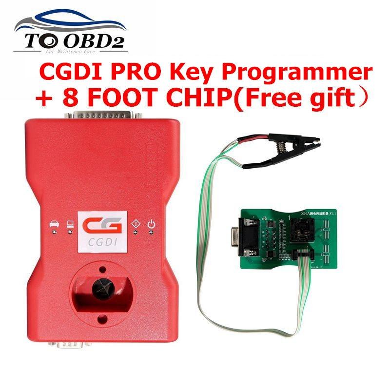 CGDI Prog For BMW Auto key programmer OBDOK Multibrands PCF79XX 8 Foot chip Gearbox plug FEM