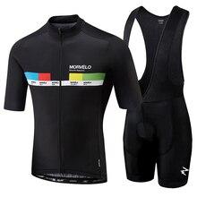 Bib Shorts Clothing Cycling-Clothes-Kits Ciclismo-Set Maillot Men Summer Morvelo Breathable