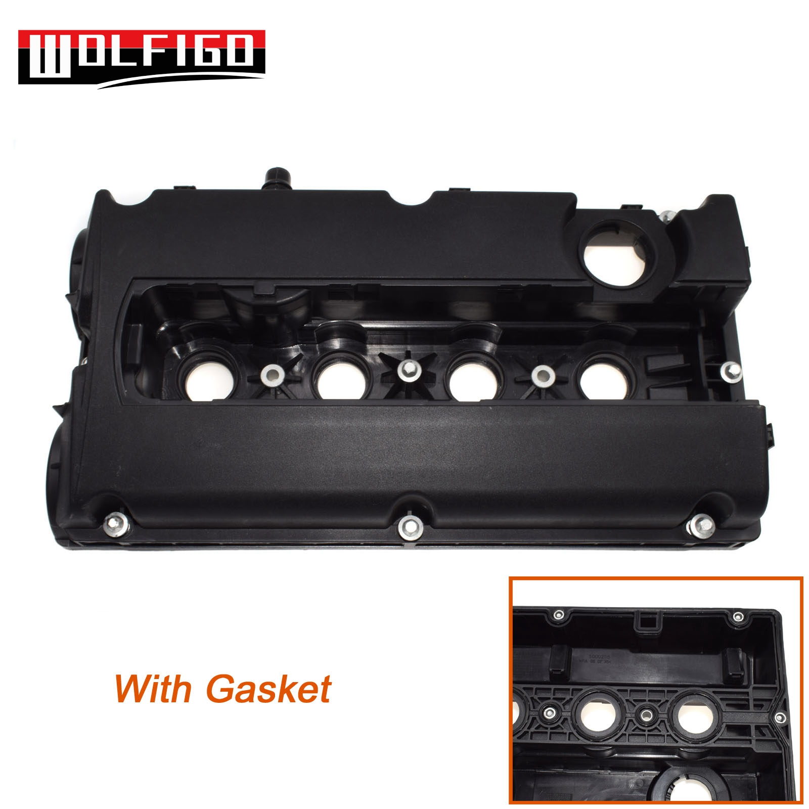 WOLFIGO New 55556284 5607159 For Vauxhall Astra G MK4 H MK5 Meriva CAM ROCKER ENGINE VALVE COVER And GASKET Z16XEP 1.6 5607592
