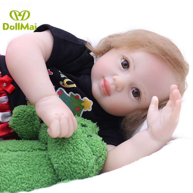 DollMai bebe real reborn dolls 50cm silicone reborn baby newborn babies alive boneca Gift for girls bed time toysDollMai bebe real reborn dolls 50cm silicone reborn baby newborn babies alive boneca Gift for girls bed time toys