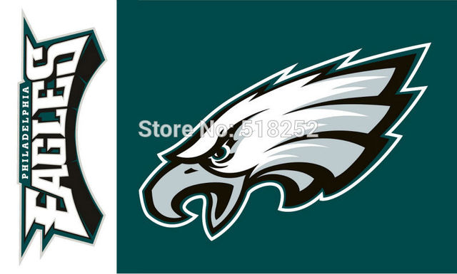 Philadelphia Eagles Logo Flag 3x5 Ft 150x90cm Banner 100d Polyester