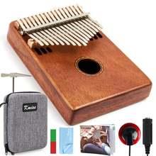 Kmise kalimba 17 клавишный палец фортепиано Полный Твердый музыкальный