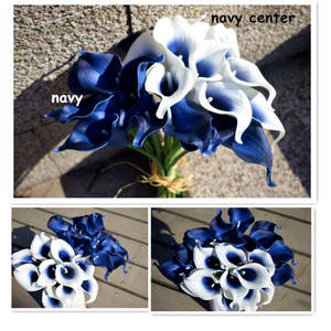Best navy silk flowers real touch flowers silk bridesmaids decorations mightylinksfo