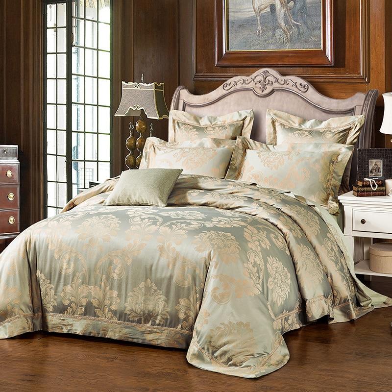 New Fashion Home Textile Wedding Jacquard Silk Bedding Set