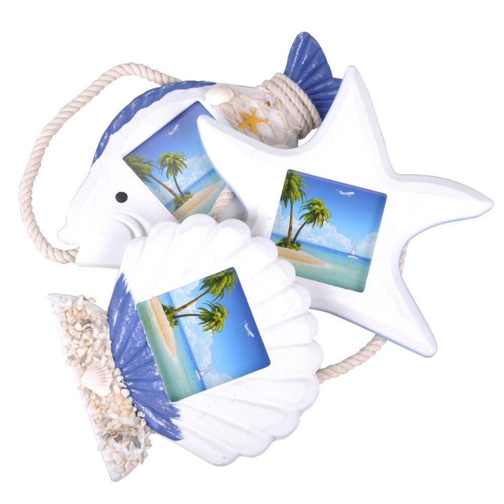 Mar Conchas pescado 3 imagen Marcos para cuadro de estilo ...