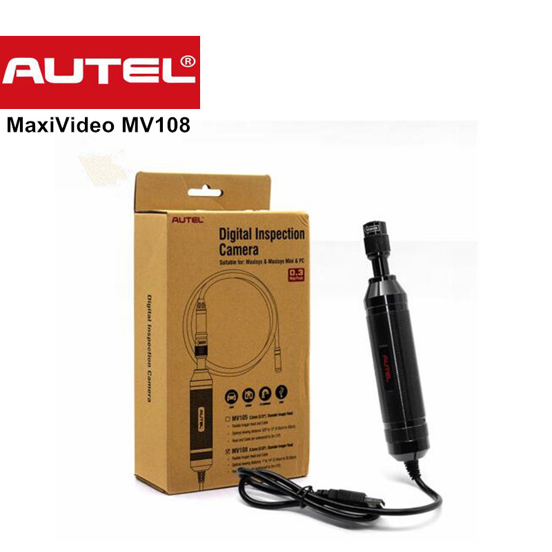 Оригинал autel инструмент maxivideo MV108 8.5 мм цифровой инспекции камеры мощный и идеально подходит для проверки большинства отверстия свечей зажигания