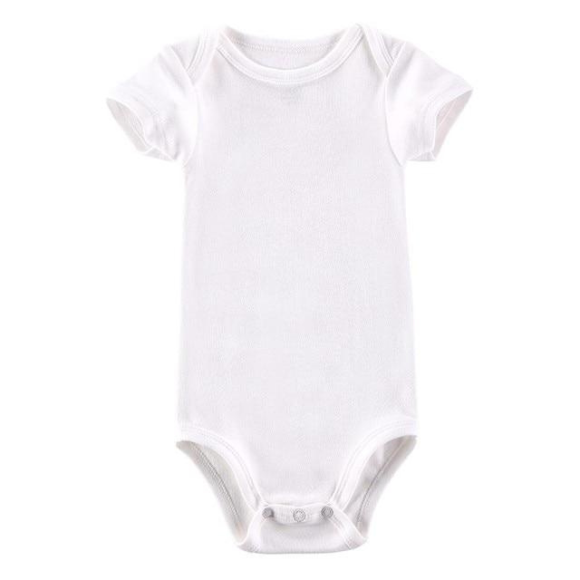 Sexemara White Baby Bodysuit Blank Unisex Newborn Baby