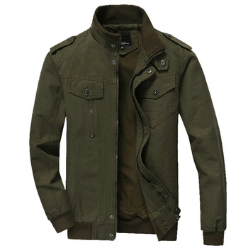 Bomber Coats Cotton Casual Workout Military Jacket Men