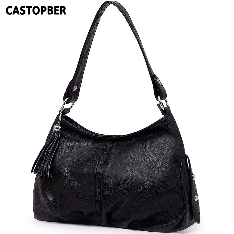 Fashion Tassel Bag First Layer Of Cowhide Women s Handbag Women One Shoulder Bags Famous Brand