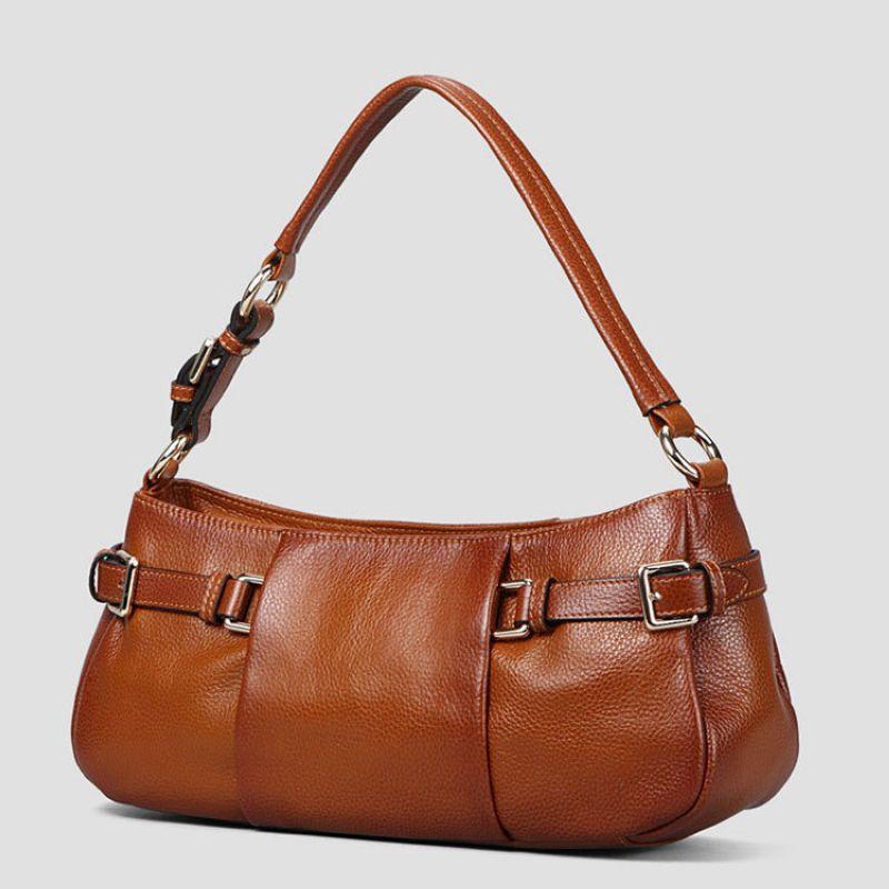 100% Genuine Leather Women Bag\Handbag Luxury Fashion Casual Tote Bag Cowhide ladies' Shoulder bag~13B271 luxury fashion retro 100% genuine leather women shell bag handbag cowhide shoulder bag tote bag 13b58
