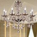 Iluminación moderna Lámpara de Cristal de Lujo Cognac Glass Lámpara Colgante Luz Lámparas Lustres de cristal de la Lámpara de Iluminación del Hotel