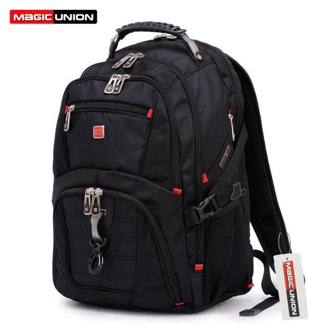 Magic union oxford homens mochila laptop mochila masculina 15 polegada do homem mochilas bagagem & sacos de viagem dos homens por atacado