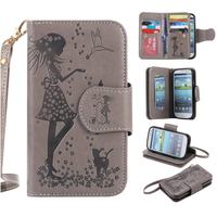 Nine Card Luxury Flip Case For Samsung Galaxy S3 Case Leather Wallet Silicone Phone Case Samsung