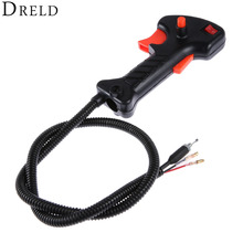 цены DRELD Brush Cutter Grass Trimmer Right Switch Handle Without The Pipe For 43CC 52CC Brush Cutter Spare Parts Petrol/Gas Power