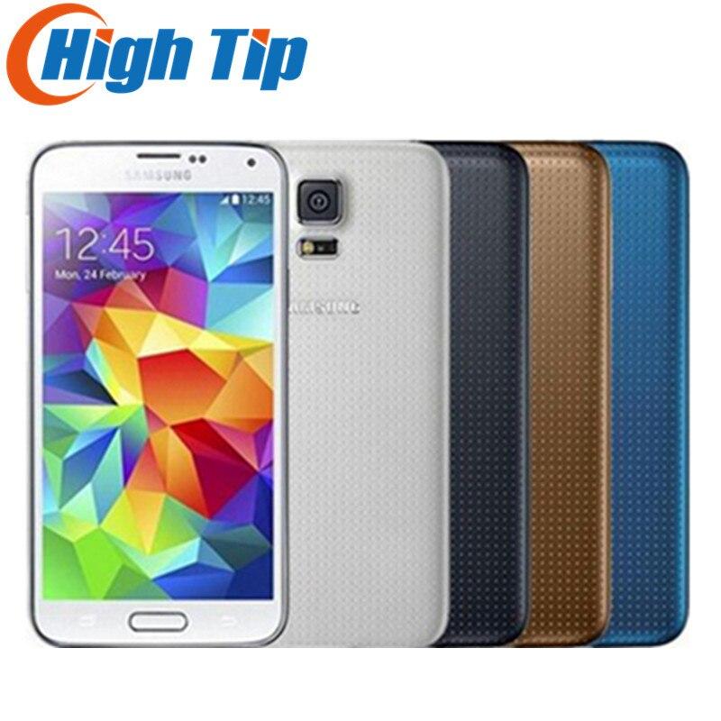 Abierto Original Samsung S5 G900A G900F G900H SM-G900 Quad-core 5.1 pulgadas 3G & 4G GPS 16MP WIFI Teléfono Móvil Reformado dropship