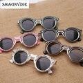 SHAONVDIE Steampunk óculos de Sol de Design Da Marca Das Mulheres Do Vintage Rodada óculos de Sol oculos de sol UV400