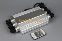 outdoor decoration optic fiber light engine 50W remote commercial lighting optical fibre led light box generator 6xport output