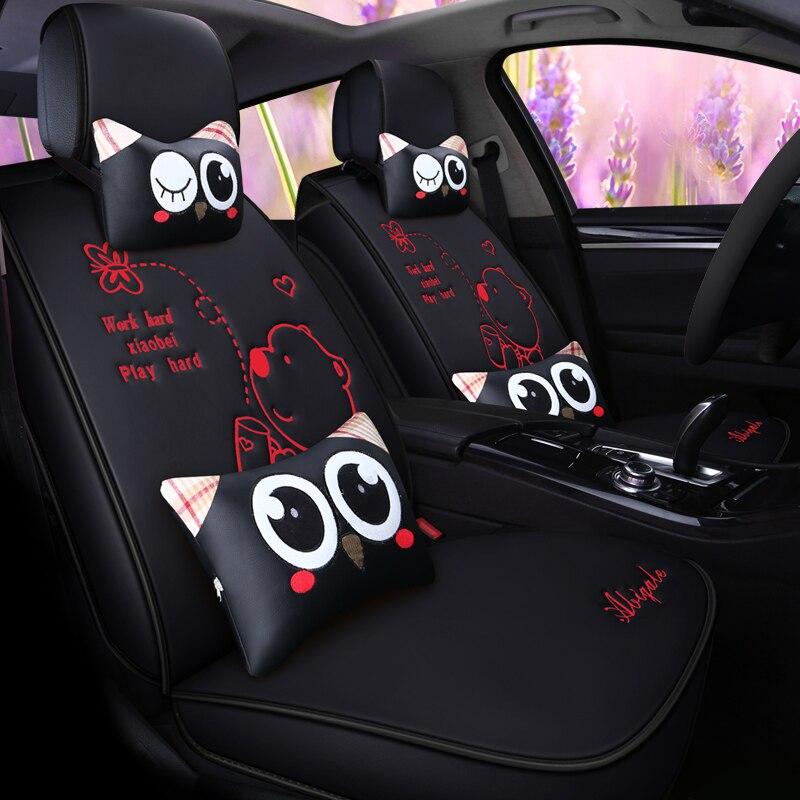 Couverture de siège de voiture en cuir pu couverture de sièges auto pour ford mondeo mk3 kia sportage 2018 mercedes w124 land cruiser 100 chevro