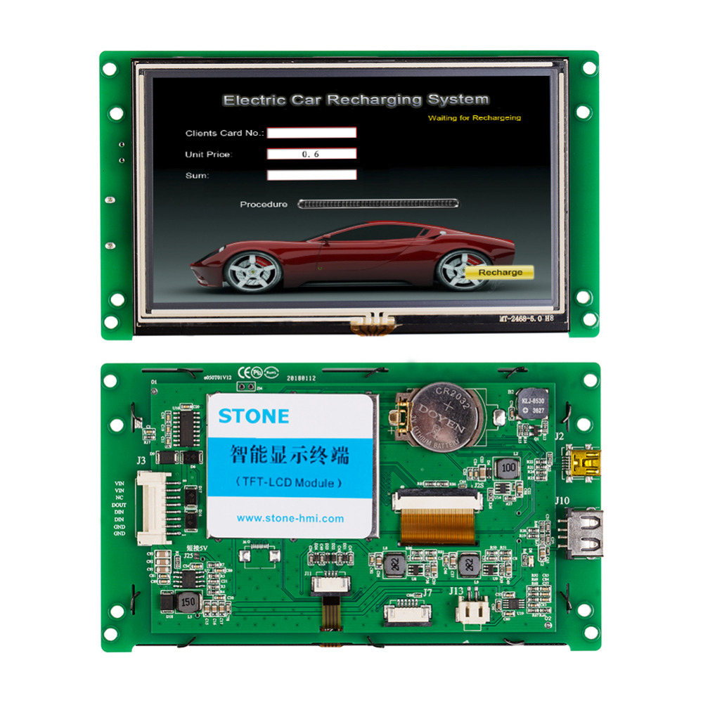 5 High Resolution TFT LCD Screen Display With RS232/TTL Port5 High Resolution TFT LCD Screen Display With RS232/TTL Port