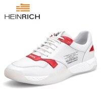 Генрих 2018 Лето Для мужчин s обувь суперзвезды Элитный бренд Повседневное белые туфли Для мужчин слипоны высокие Мужская обувь Schoenen Mannen
