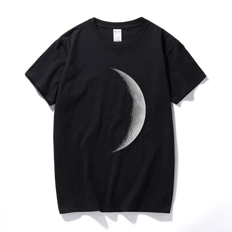 Moon T Shirt The Dark Side of the Moon Lunar Eclipse Summer Fashion Tee Shirt Homme Cotton Short Sleeve T-shirt Tops Tshirt Men