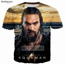 Movie Aquaman Cool 3D Printed T shirt Men/women Hip Hop Streetwear Crewneck T-shirt Tees Boys Rock Tshirt Tops 2018 New Clothes