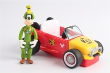 Mickey Mouse Pullback Racer - Goofy with The Roadster Racers loose no box 1pcs 20cm original mickey racer toys mickey and roadster racers mickey minnie donald daisy goofy plush soft dolls