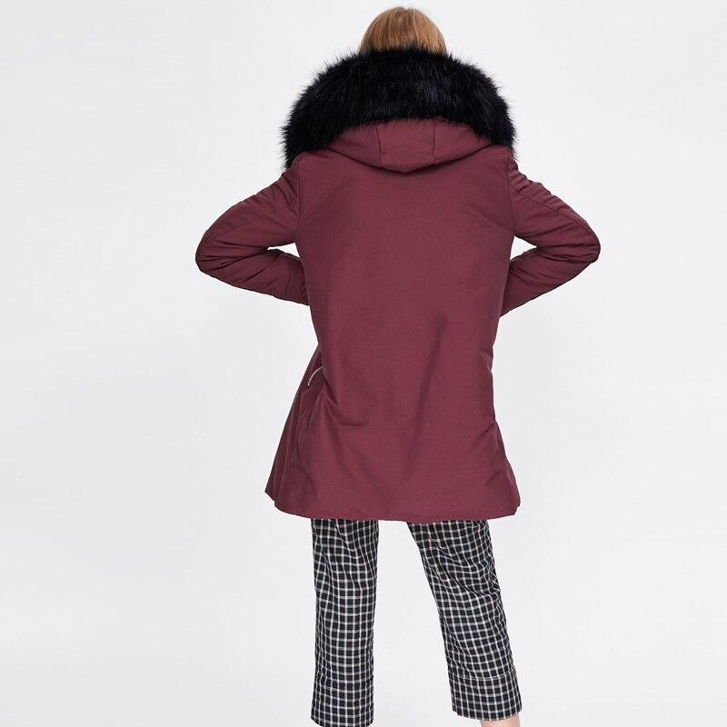 Col Manteau Épaissir D'hiver Jojx De Chaud Femmes Manteaux Taille Noir 2018 Plus Mince Veste Outwear La Green Parkas À Capuche army rouge Femelle Fourrure Parka 0xx8Aw
