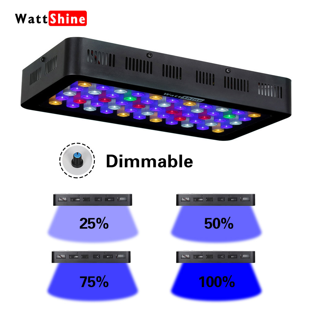 Full spectrum Dimmable 165w led aquarium light for fish tank culture Coral Aquatic reef Aquarium Led Lighting Marine
