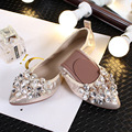 Women shoes pointed stones eggs women' s large size  four - season comfortable dance