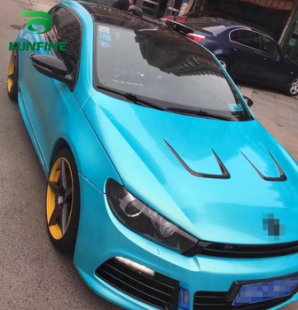 Car Styling Wrap Dream gold bright blue Car Vinyl film Body Sticker Car sticker With Air Free Bubble For Motorcycle Car Tuning