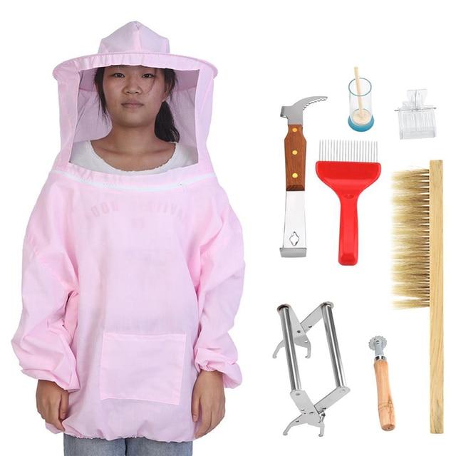 6 misure Professionale Apicoltura Rivestimento Protettivo Vestito Ape Insetto Ri