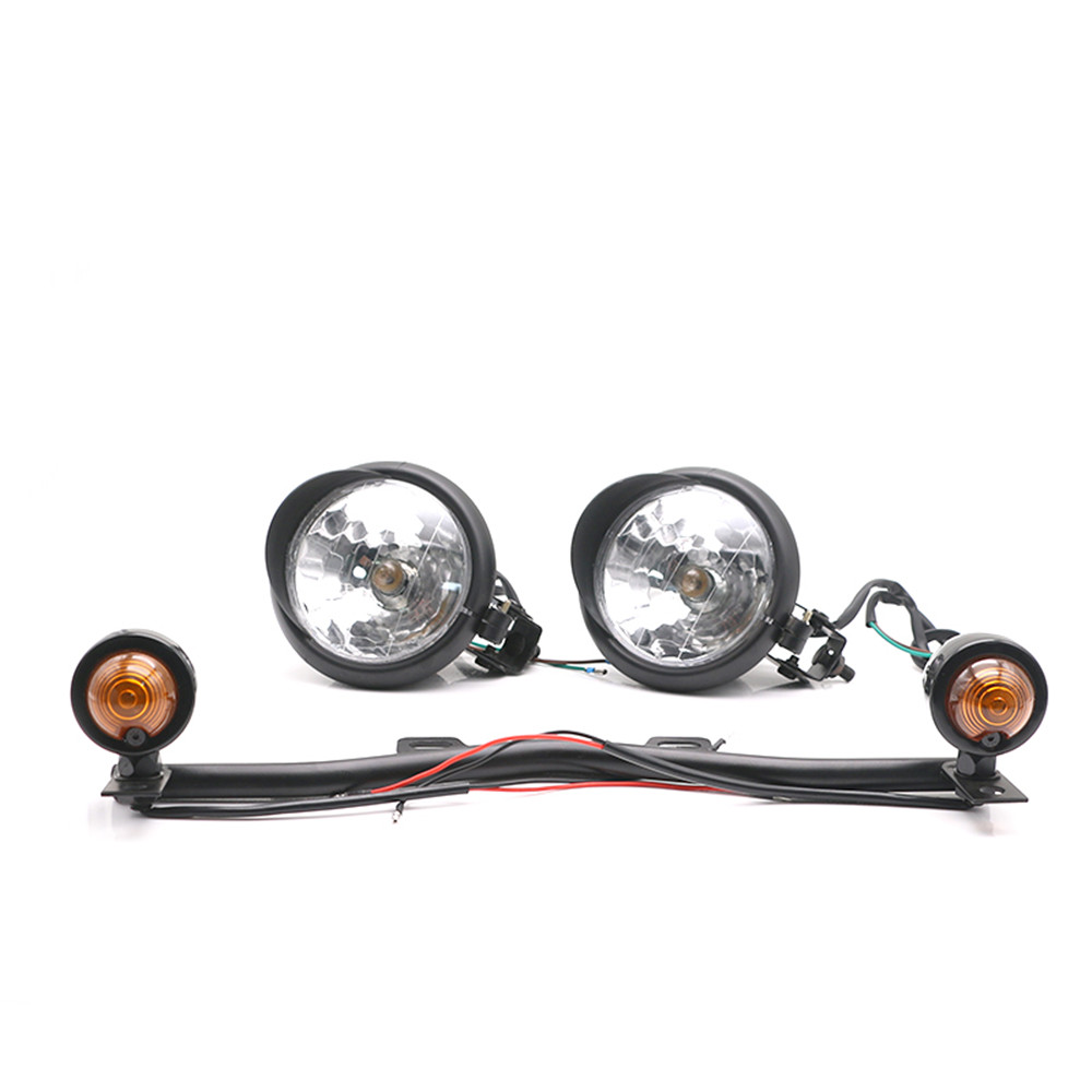 Passing Turn Signals Fog Light Bar For Kawasaki Vulcan VN 800 900 1500 1600 1700/Honda Shadow Ace Spirit VT750 VT1100 TX 1300 C