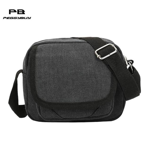28d6cf1d3 Men's Durable Vintage Canvas Messenger Bag Casual Shoulder Bags Handbag  Leisure Work Travel Outing Business Zipper Crossbody Bag