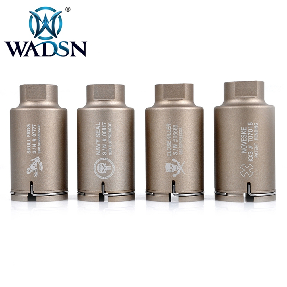 WADSN Airsoft NOV M4 MINI VERSION Thread Size 14mm Anti-Clockwise Thread Aluminum Black/Dark Earth WEX156 Hunting Accessories
