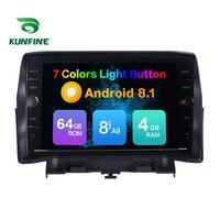 Восьмиядерный 4 Гб ОЗУ 64 Гб ПЗУ Android 8,1 автомобильный DVD gps плеер бездечный автомобильный стерео для FORD Kuga радио головное устройство wifi 4G Bluetooth