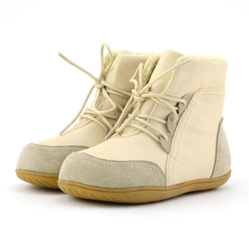 Botas de nieve de tobillo de retazos para niños botas de encaje de tela de algodón para niñas botas cálidas de punta redonda para niños AA51212