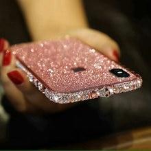 Cho Iphone 11 Pro Max 8 7 6S Plus Bling Case Diamond Khung Bling Loài Rắn Đá Lấp Lánh Ốp Lưng Ốp Lưng cho Iphone XR XS Max